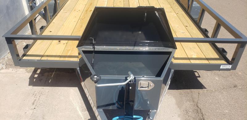 2021 Lamar TrailerUT-3.5k-14 Utility Trailer-7000# GVWR-Tool Box -4' Stand up spring assist gate-cash discount see below