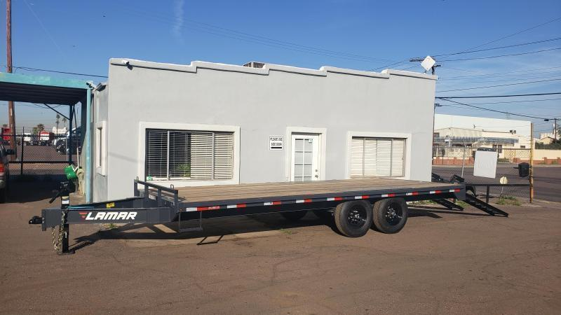 2021 Lamar Trailers F8-7k-20-Deck Over Flatbed Trailer for sale-8' pull out ramps- ** Cash discounts available- see below **