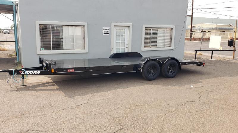 2021 Lamar 20' Open Car hauler 7000# GVWR- winch plate- 2' dove tail- slide in rear ramps- **cash discounts** See below
