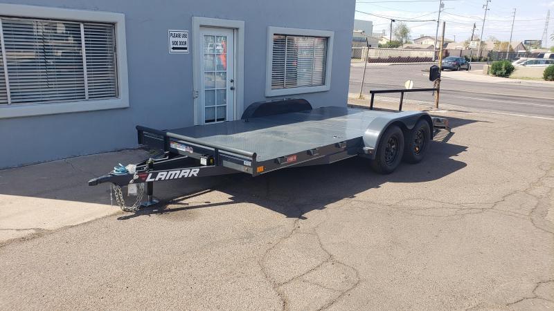 2021 Lamar Trailers CE-3.5k-16 Steel Deck Car / Open Car Trailers/ -7000# GVWR- steel deck-8 flush mount D-rings-free spare tire-