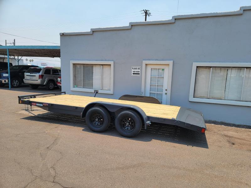 2021 Lamar CEw-3.5k-18 Car Wood deck  / Open Car Trailer for sale- 7000# GVWR- D-rings- ramps**Cash Discounts available- See below***