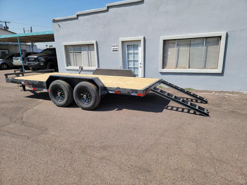 """2021 H6 16' Equipment hauler for sale-14000# GVWR- wood deck- 6"""" channel Frame-pull out ramps-  ** Cash Discounts - see below***"""
