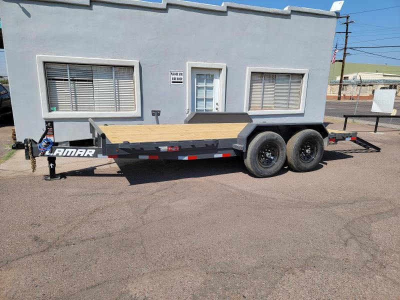 """2021 H6 16' Equipment hauler for sale-14000# GVWR- wood deck- 6"""" channel Frame-pull out ramps- rear support stands- ** Cash Discounts - see below***"""