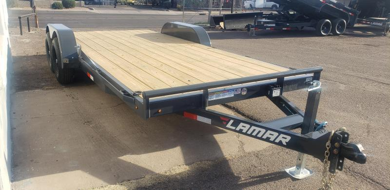 2021 Lamar Trailers ccw-5.2k-18 Car / Open Car Trailer for sale- #9990 GVWR - 5' pull out ramps ** Cash Discounts available see below***