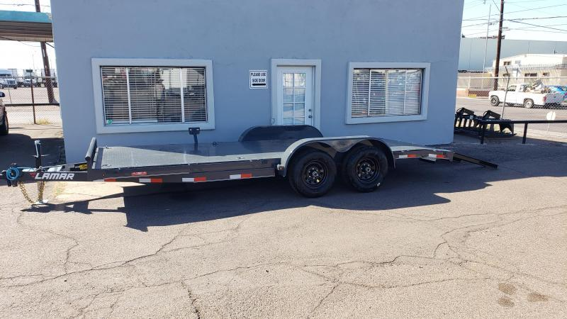 2021 Lamar Trailers CC-5.2k-18' Car / Open Car Trailers-Steel deck- D-rings-ramps included- **cash discounts available** see below