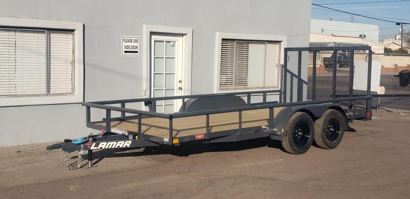 2021 7' x 16' Utility Trailer- 7000# GVWR- Pipe Top-  4' spring assist gate   ***CASH DISCOUNT- SEE BELOW***