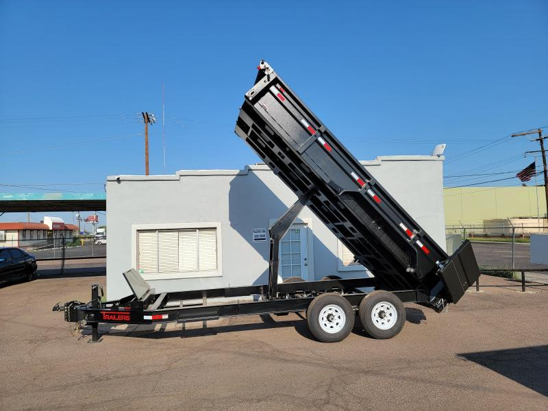 2021 ED Trailers 16 Ft Dump Trailer- power/gravity down- Rear support stands-Tarp- Ramps - Battery Charger- 7 Gauge Floor - Powder coat finish. *** Cash discounts Available- see below***