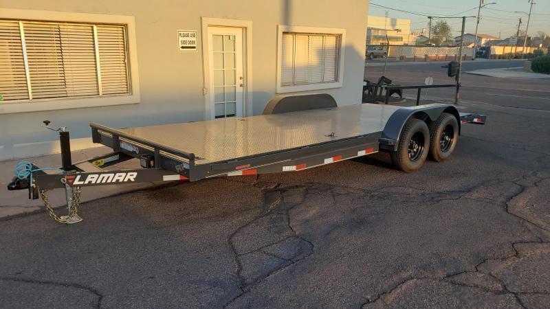 2021 Lamar Trailers CC-5.2k-20' Car / Open Car Trailers-Steel deck- D-rings-**cash discounts available** see below