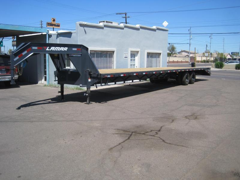2021 Lamar Trailers FD-12k-40-MR Flatbed Trailer-torque tube-under frame bridging-Full Width Mega Ramps- *****Discounts available- see below***