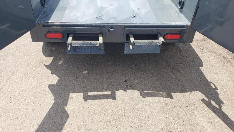 Lamar Mini Dump Trailer 5x10 9990 GVWR- Ramps- Deluxe Tarp Kit -Adj Coupler