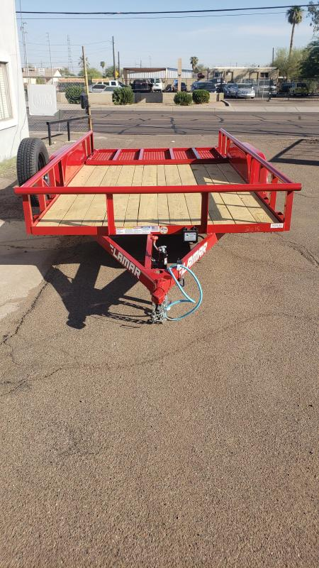 2021 Lamar 14 Utility Trailer 7000 GVWR Pipe top 4 spring assist gate free spare cash discount See Below