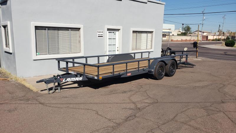 2020 7' x 18' Utility Trailer- 7000# GVWR- Pipe Top-  4' spring assist gate-  Free Spare-   ***CASH DISCOUNT- SEE BELOW***
