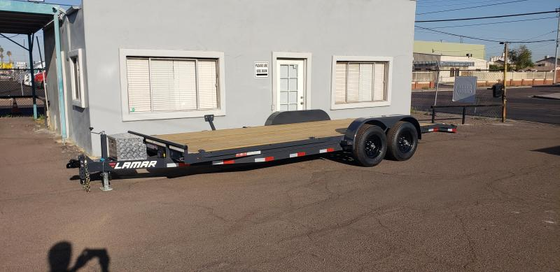 ON SALE NOW- 2021 Lamar Trailers ccw-5.2k-20 Car / Open Car Trailers-9990# GVWR- Ramps- Toolbox-*** Cash discounts available***