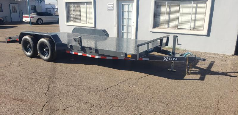 2021 X-on Trailer 18' Steel Deck Car / Racing Trailer- 9990# GVWR- Pull out ramps- *cash discounts- see below**