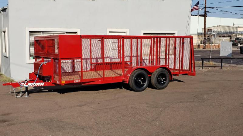 2021 Lamar Landscape Trailer--7000# GVWR- 4' spring assist gate- weed eater rack- full toolbox- Water Rack- Gas can rack-4' mesh sides-free spare- cash discount ** See Below**