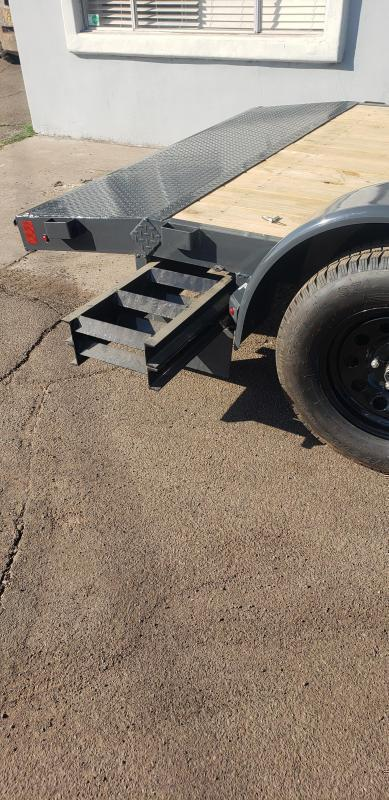 2021 Lamar  CEW-3.5k-16 ft Car / Open Car Trailer for sale- 7000# GVWR -Wood Deck- 5' pull out ramps- LED Lights- Sealed Wiring Harness- Removable Fenders- Powder Coated-Cash Discounts- see below