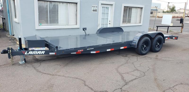 2021 Lamar Trailers CC-5.2k-20' Car / Open Car Trailers-Steel deck- D-rings-tool box-7k drop foot Jack- powder coat finish**cash discounts available** see below