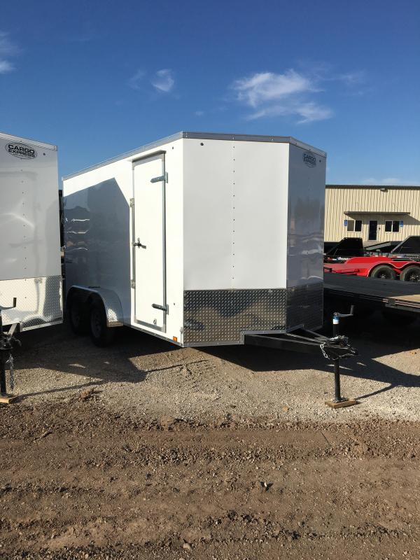 2021 Cargo Express Ex 7 X 14Wide V-NOSE Tandem Cargo Cargo / Enclosed Trailer