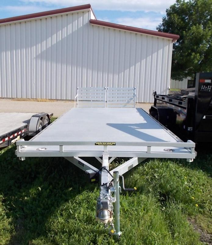 2020 Aluma 1024H Tandem Axle Utility Trailer with Split Bi-Fold Gates