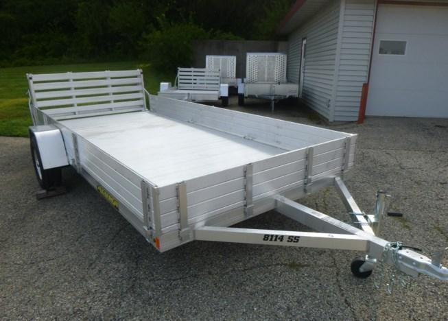 2021 Aluma 8114SS ATV / Utility Trailer w/Bi-Fold Gate