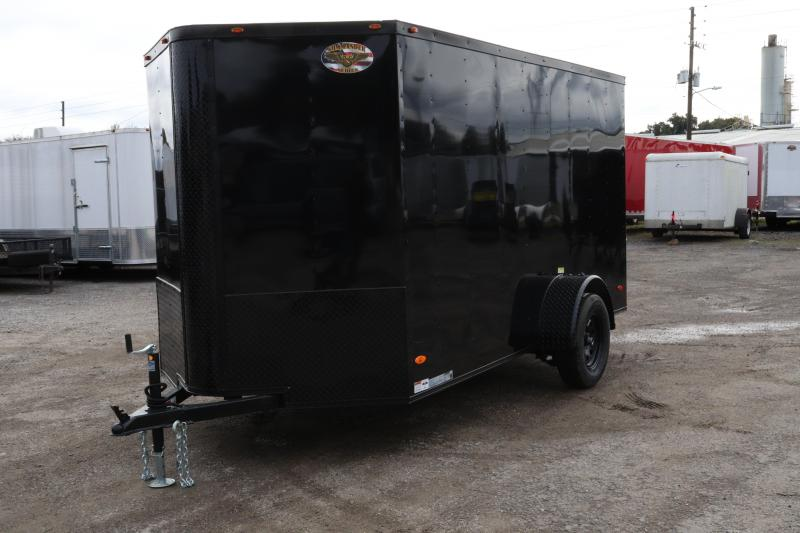 2020 AMP Trailers SINGLE AXLE 6X12 CARGO *BLACK
