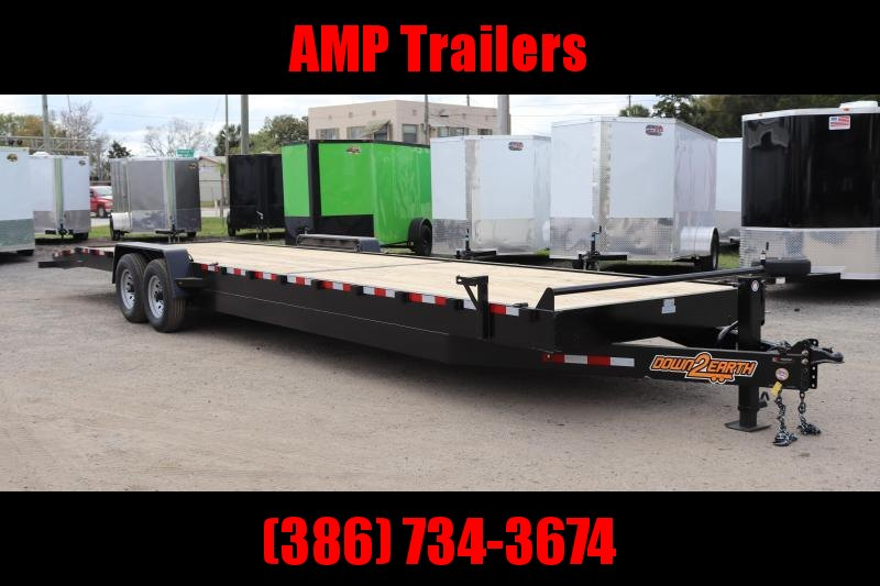 "2021 Down 2 Earth Trailers 82""x34' 2 CAR HAULER Equipment Trailer"