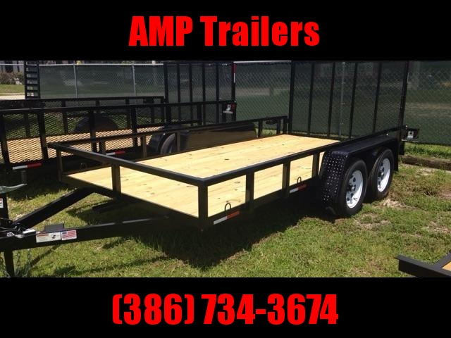 2021 AMP Tandem Axle 76x14 Utility Trailer