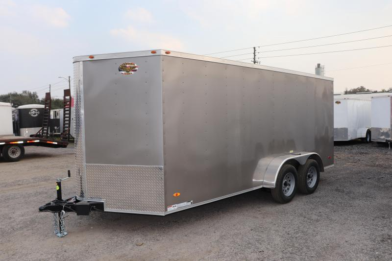2020 7X16 ADMIRAL SERIES TANDEM AXLE Cargo Trailer *SILVER