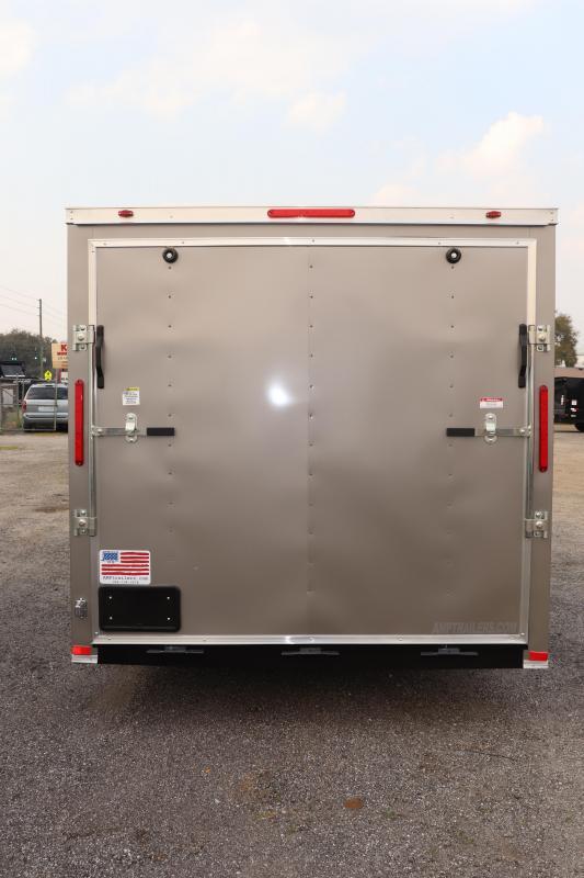 2020 7X16 ADMIRAL SERIES TANDEM AXLE Cargo Trailer *SILVER