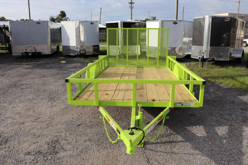 "2021 Down to Earth 76""x12' Utility Trailer *LIME GREEN"