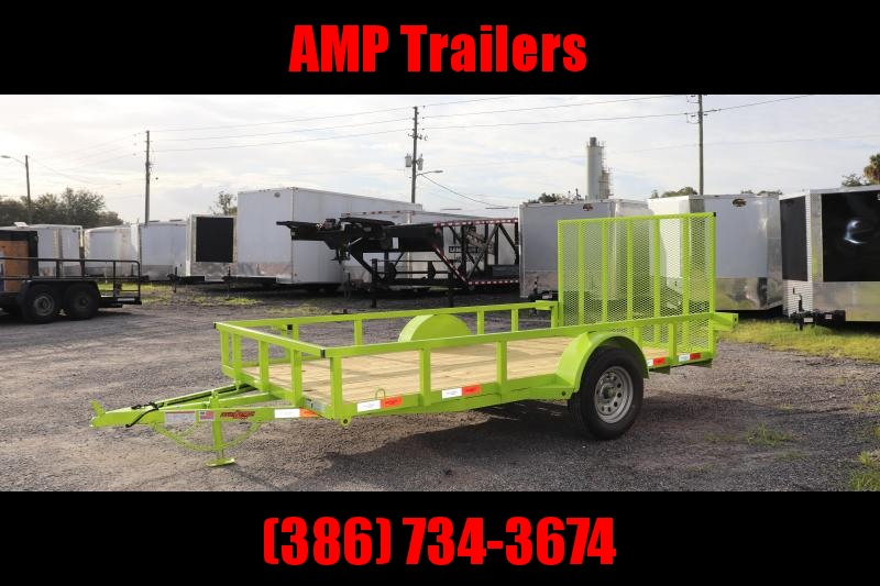 "2020 Down to Earth 76""x12' Utility Trailer *LIME GREEN"