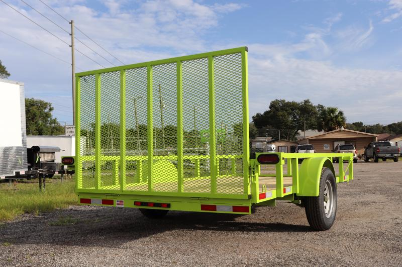 """2020 Down to Earth 76""""x12' Utility Trailer *LIME GREEN"""