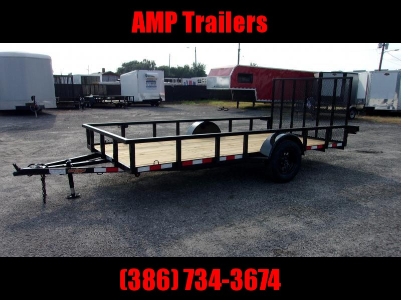 "2021 Down to Earth 76""x14' Single Axle Utility Trailer"
