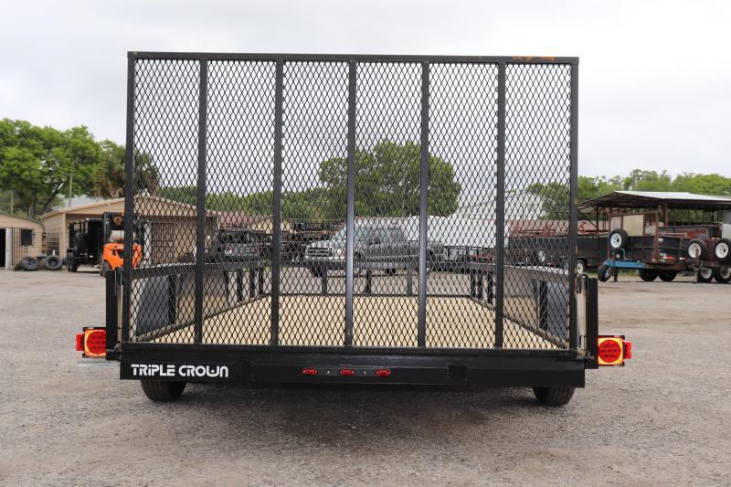 2021 Triple Crown Trailers TANDEM AXLE 76X12 Utility Trailer
