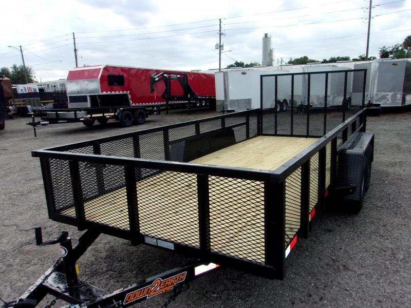 2021 Down 2 Earth Trailers 76X12- 2 SIDES Utility Trailer