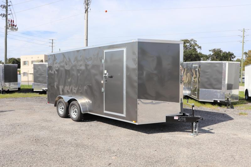 2020 7X16 ADMIRAL SERIES TANDEM AXLE CARGO TRAILER *CHARCOAL