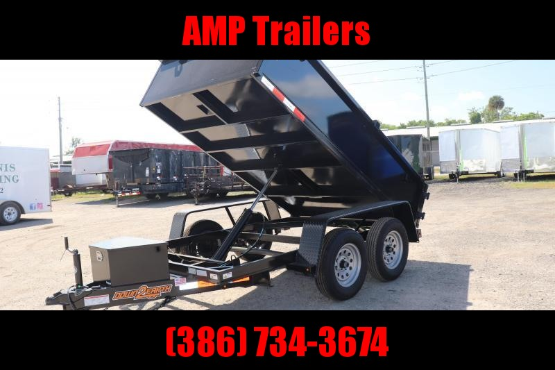 2020 Down 2 Earth Trailers D2E 6x10 DUMP TRAILER *CHARCOAL