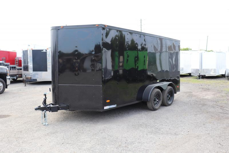 2020 7X16 ADMIRAL SERIES TANDEM AXLE CARGO TRAILER *BLACK OUT*