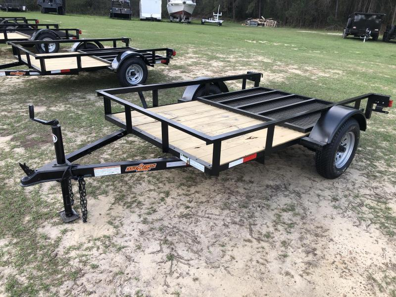 "2021 Down 2 Earth Trailers 60""X8' SA - ANGLE Utility Trailer"