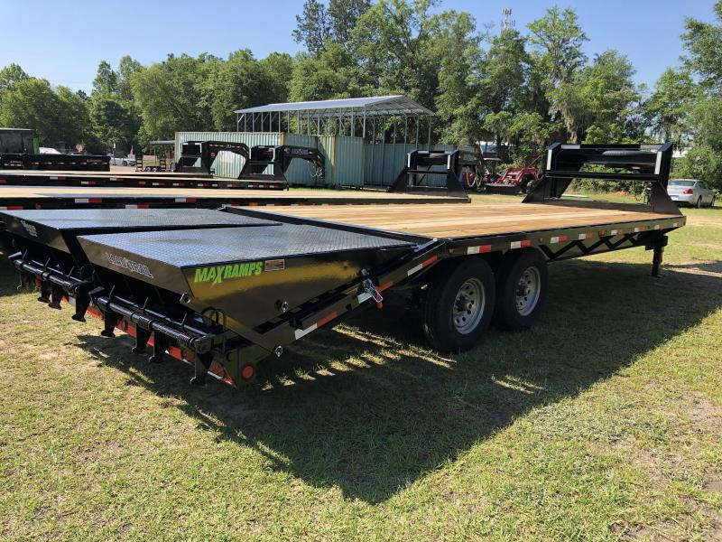 2021 Load Trail 102X24 GOOSE EQUIPMENT W/ MAX RAMPS Equipment Trailer