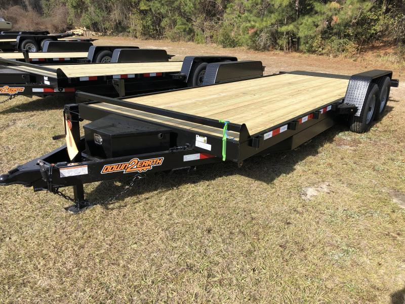 2021 Down 2 Earth Trailers 82x20 Powered 10k FULL TILT Equipment Trailer