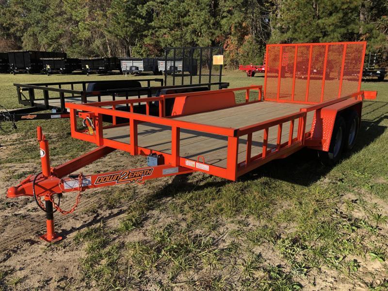 2021 Down 2 Earth Trailers 82x16TA Utility Trailer w/ ATV side ramps