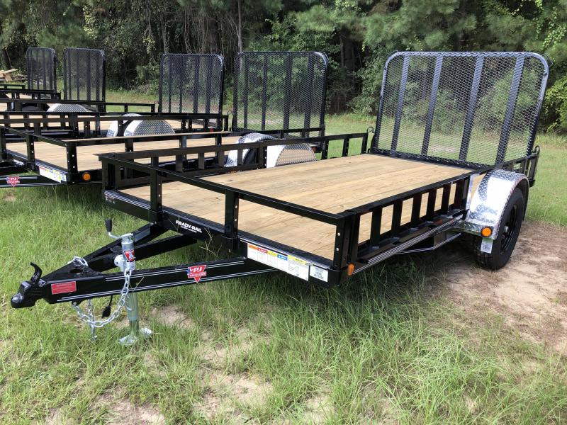 "2021 PJ Trailers 77"" X 12' SA front ATV RAMPS Utility Trailer"