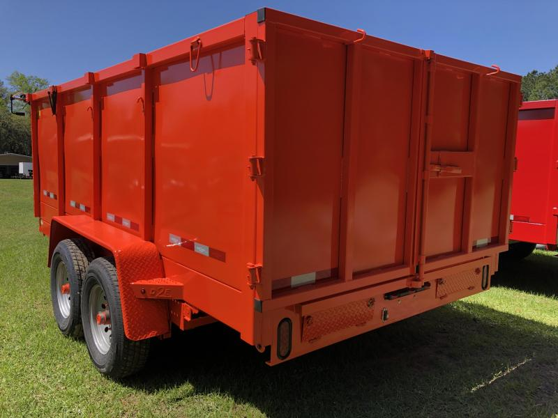 "2021 Down 2 Earth Trailers 84x14TA w/ 48"" Sides Dump Trailer"