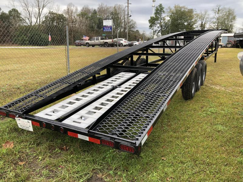 "2021 Kaufman Trailers 90""x50' Three-car WEDGE Trailer Equipment Trailer"