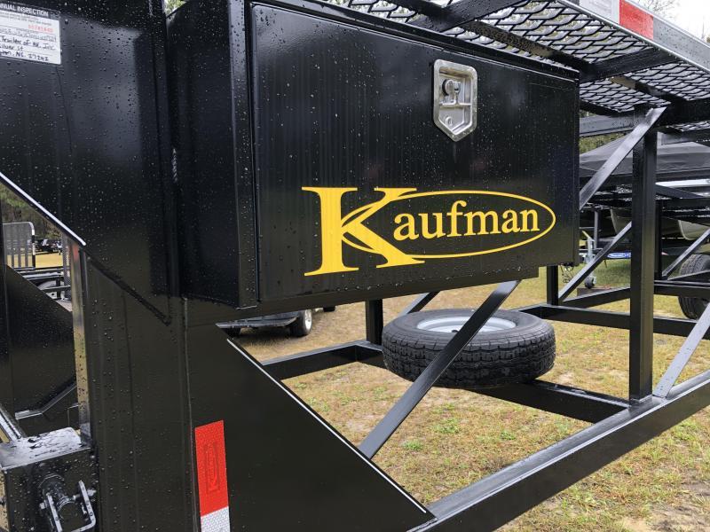 "2021 Kaufman Trailers 90""x50' Three-car WEDGE Trailer Equipment Trailer"