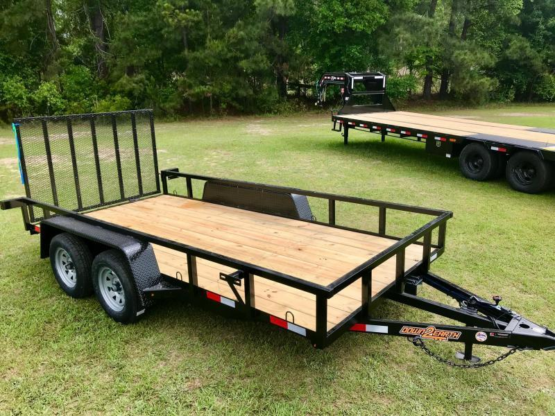 2021 Down 2 Earth Trailers 76x14TA Utility Trailer
