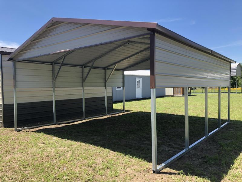 2020 18'x21' MaxSteel Open Double Carport Garage/Carport