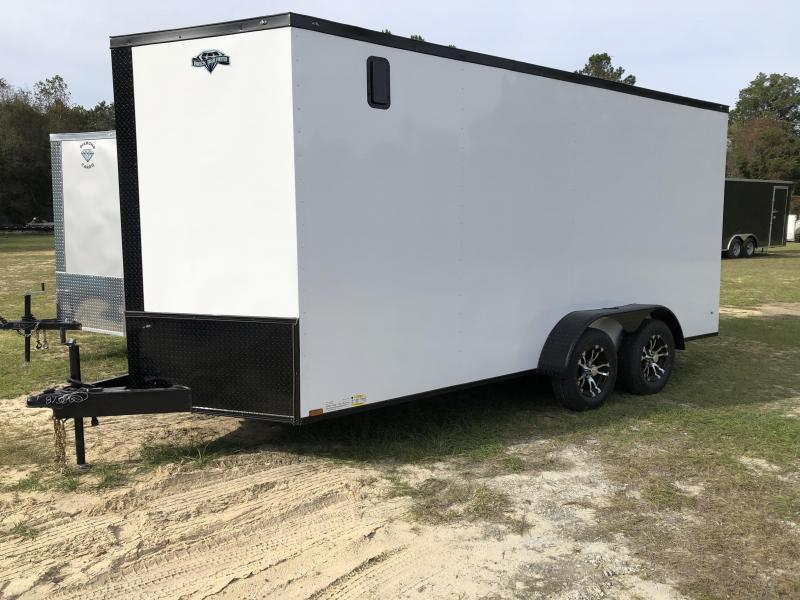 2021 Diamond Cargo 7x16TA w/ Black-out Pkg Enclosed Cargo Trailer