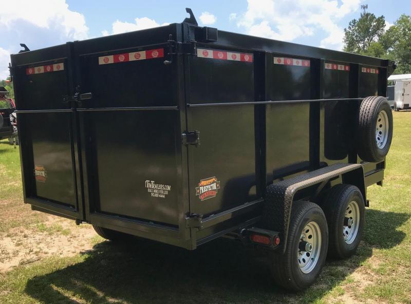 "2021 Covered Wagon Trailers 72""X12'X48"" 10k Tandem Axle Dump Trailer"